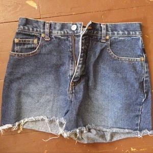 High waisted Frayed Jean Daisy Duke Shorts